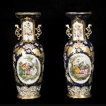 Paire de vases en porcelaine, XIXe-2