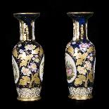Paire de vases en porcelaine, XIXe-4