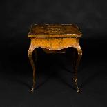 Tavolino da lavoro intarsiato e antico-5