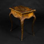 Tavolino da lavoro intarsiato e antico-3