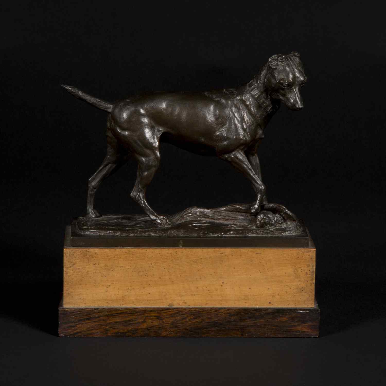 Scultura in bronzo, cane del XIX secolo