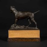 Scultura in bronzo, cane del XIX secolo-3