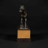 Scultura in bronzo, cane del XIX secolo-2