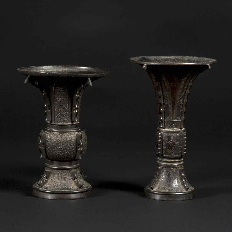 Paire de vases décoratifs, Japon, XIXe