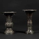 Paire de vases décoratifs, Japon, XIXe-3