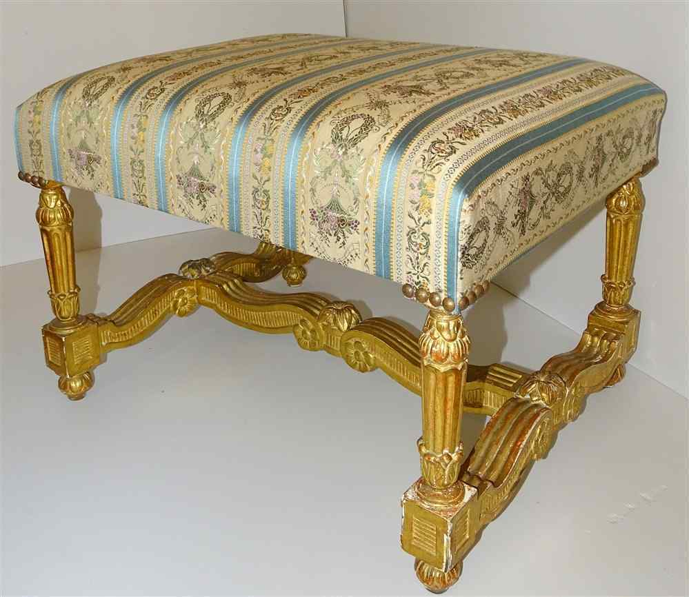 Rare stool Louis XIV Gilded Wood