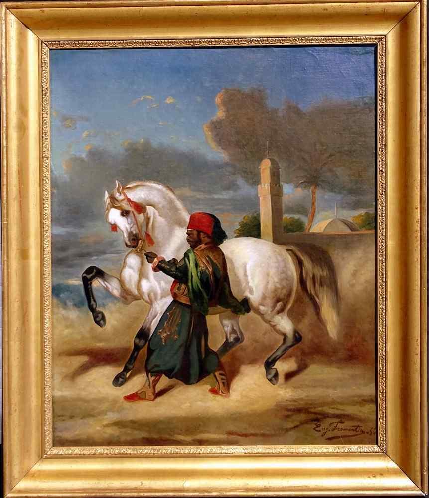 Quadro antico Francese orientalista XIX Secolo