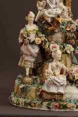 Molto importante gruppo porcellana Wallendorf Medio XVIIIè-4