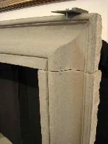 Stone fireplace. Salvator Rosa sec. XVII-0