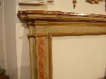Painted wood fireplace XVIII sec.-3