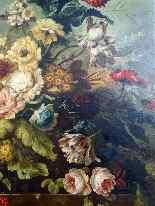 Importante composizione floreale XIX secolo-7