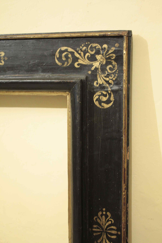 Ebony frame with golden decorations, sec. XVII