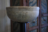 Baptismal font in marble-0