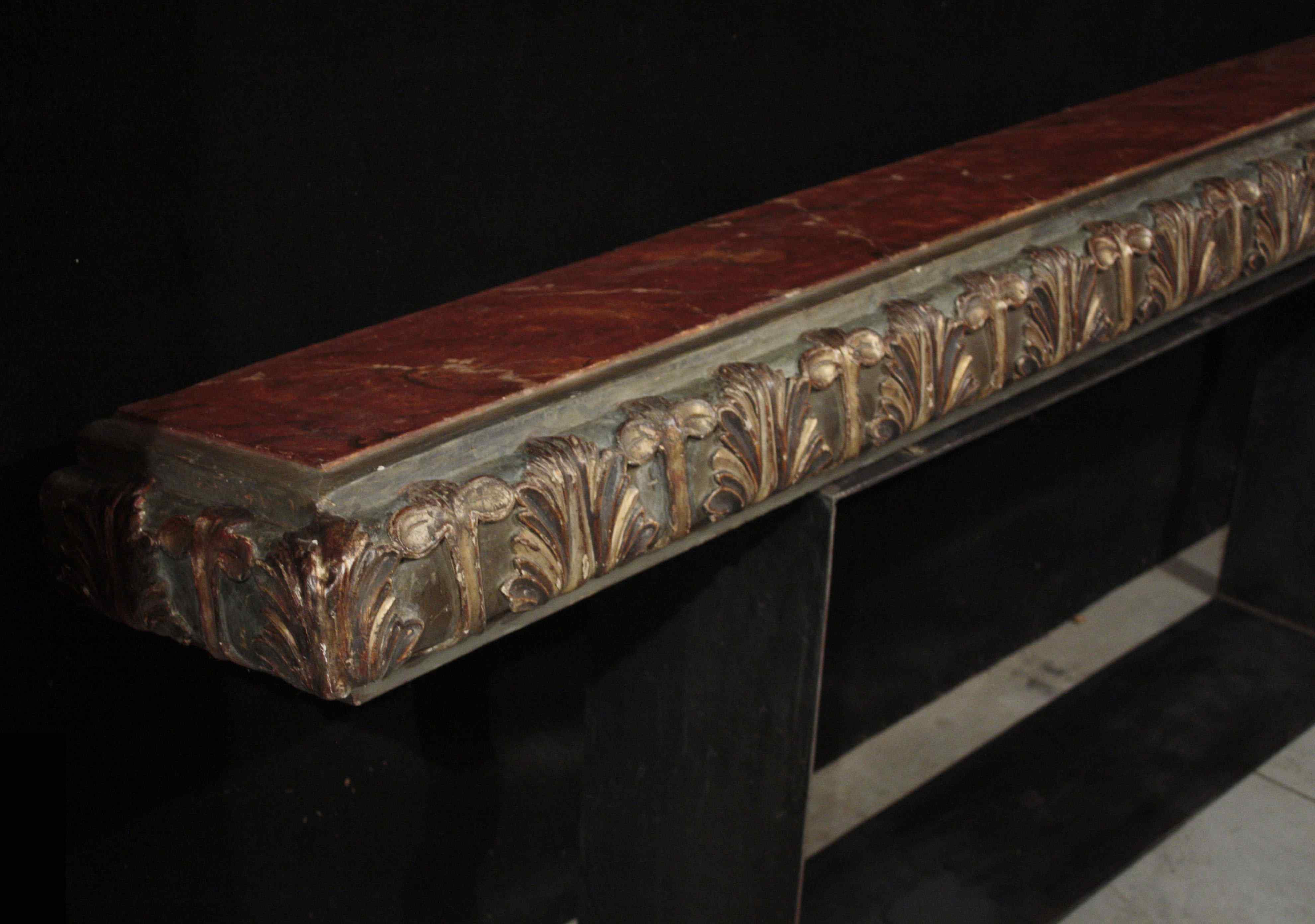 Lacquered shelf with golden friezes