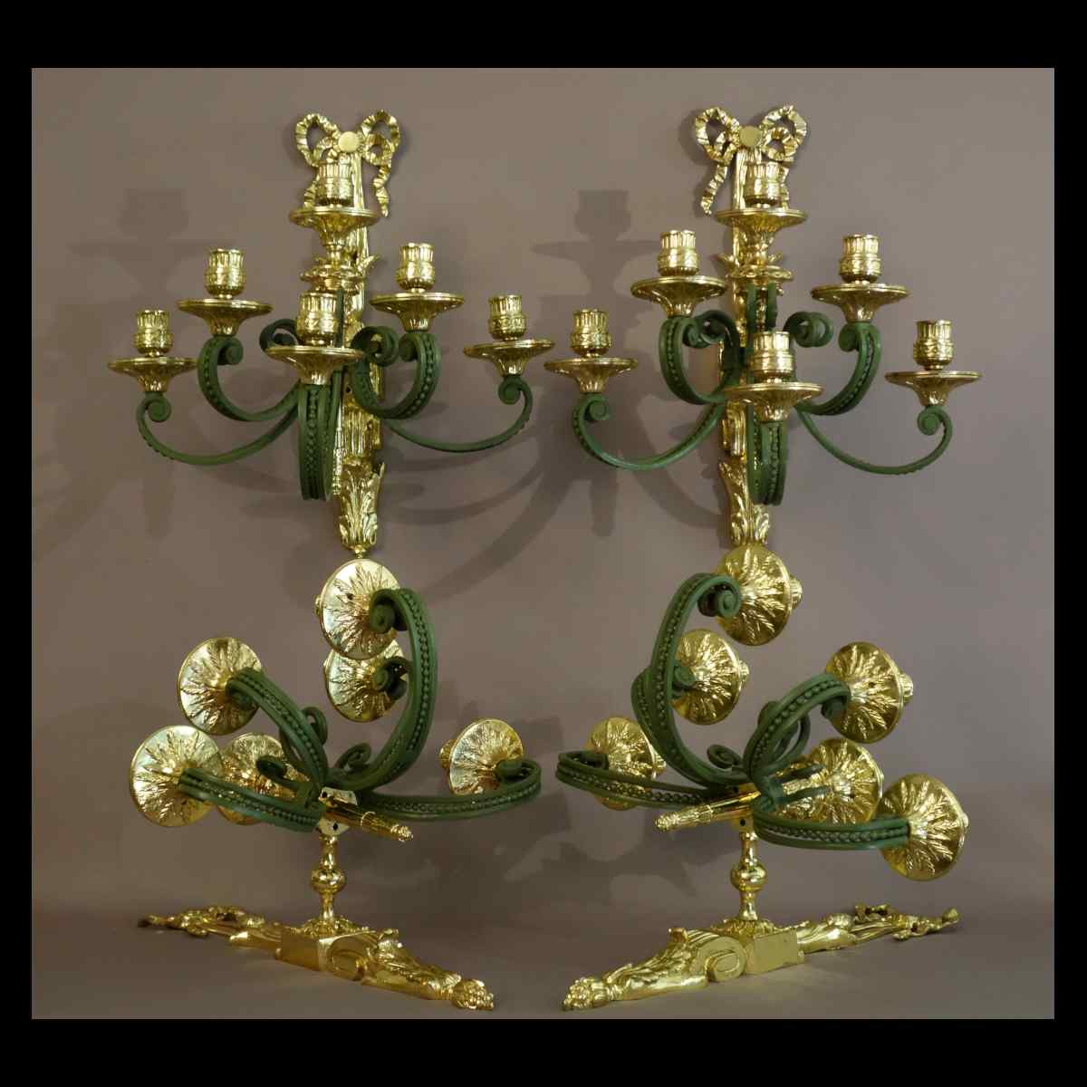 Grand Set Of Wall Light-candelabra Louis XVI Style XIXth Era