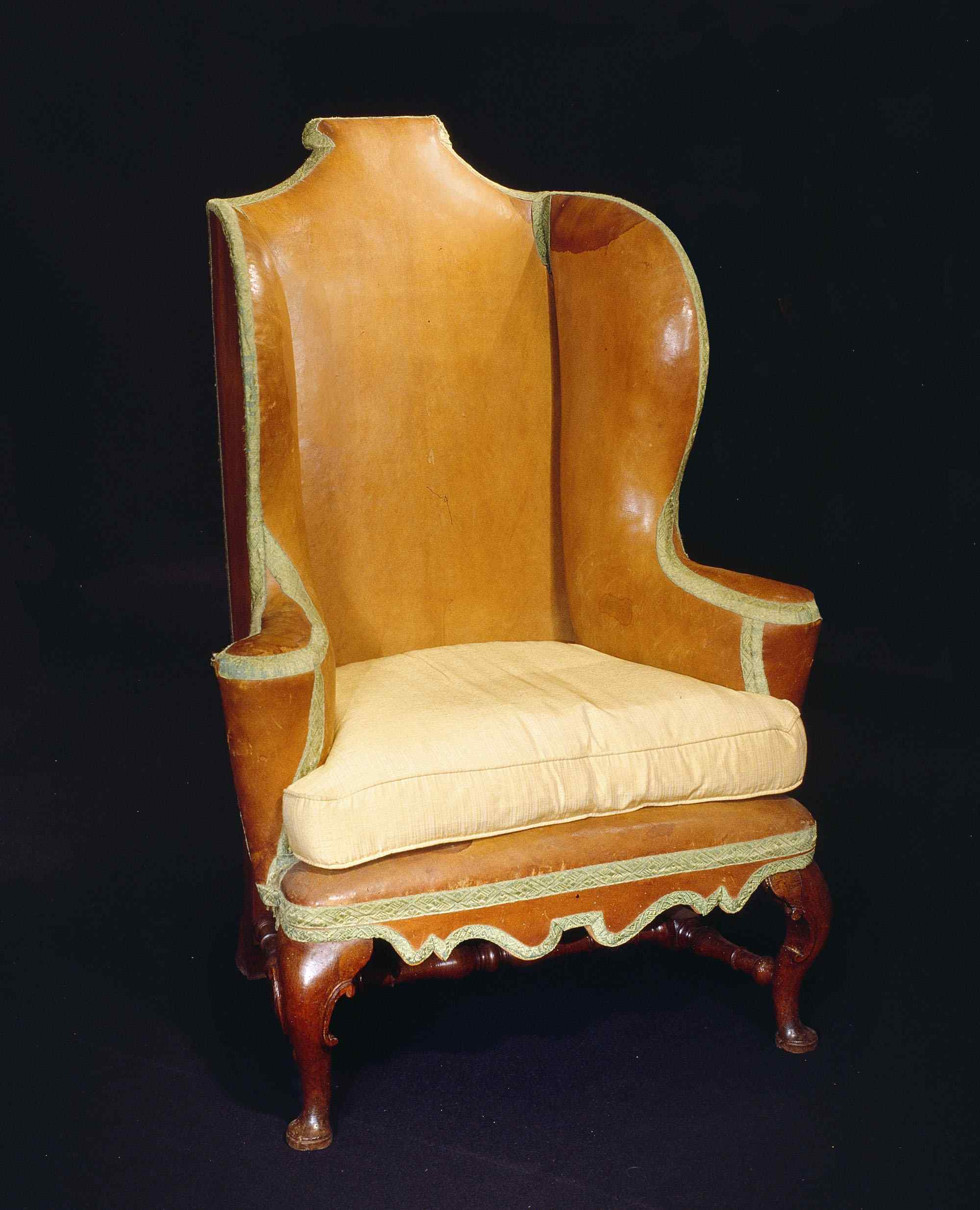 Leather armchair, Lucca, Louis XIV