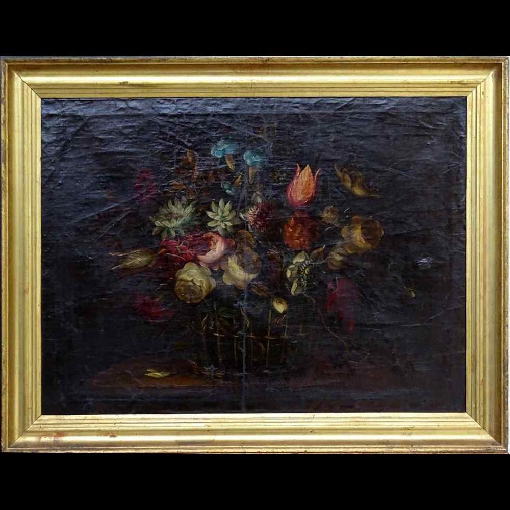 Willem van Aelst 1627-1683 rari cesti di fiori Coppia