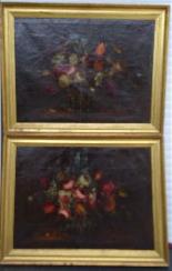 Willem van Aelst 1627-1683 rari cesti di fiori Coppia-12