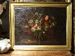 Willem van Aelst 1627-1683 rari cesti di fiori Coppia-14