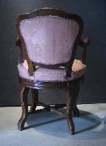 Swivel armchair in walnut wood-2