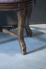 Swivel armchair in walnut wood-6