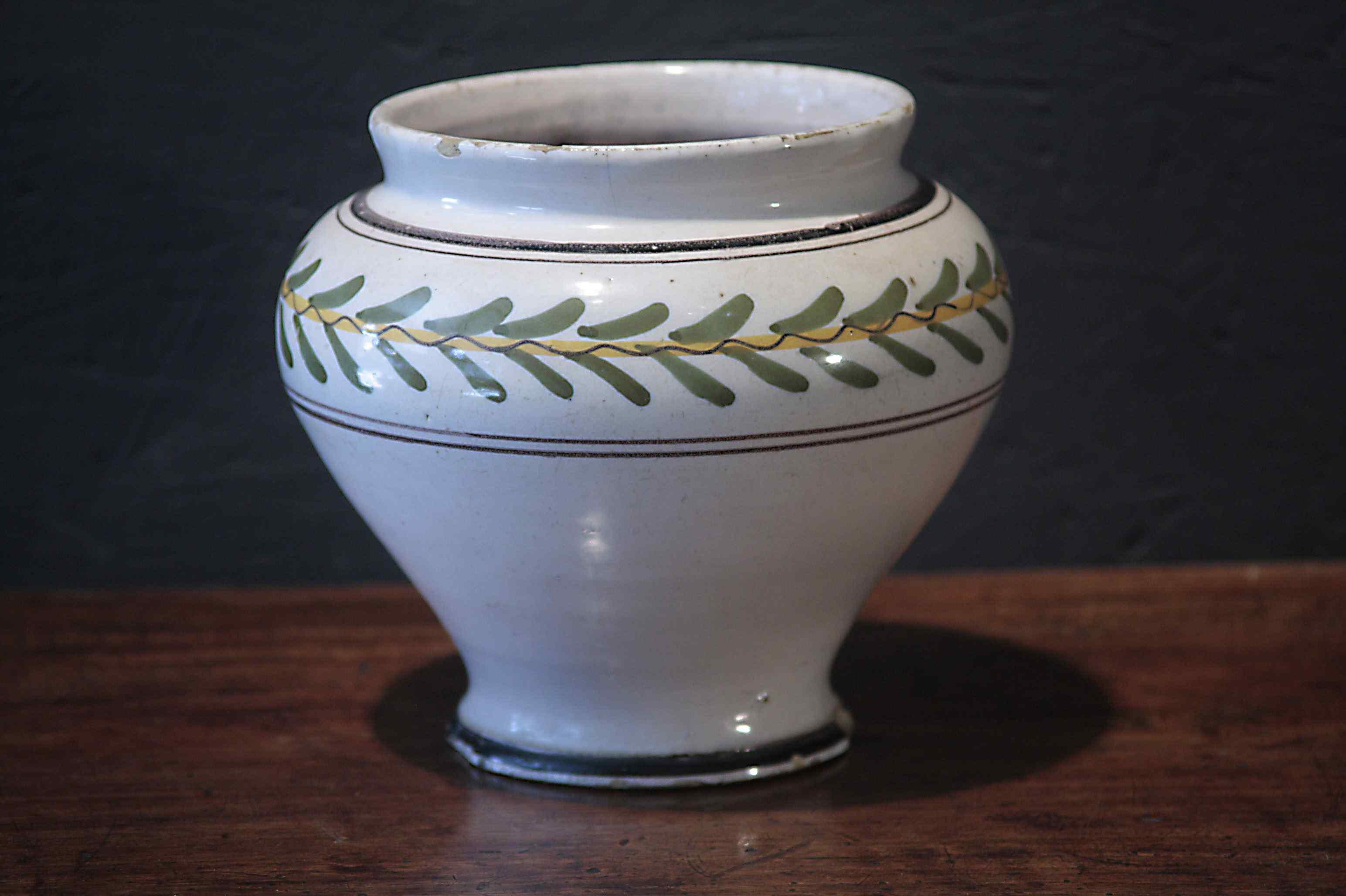 Vase in Majolica, Siena, Louis XVI