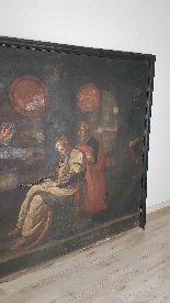 Large antique painting 250 x 153 cm oil on canvas XVII centu-1
