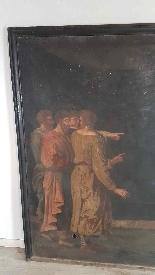 Large antique painting 250 x 153 cm oil on canvas XVII centu-8