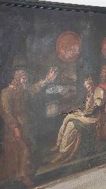 Large antique painting 250 x 153 cm oil on canvas XVII centu-0