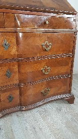 Antique chest of drawers with flap first half of 1700 18th c-16