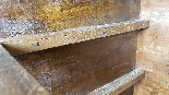 Antique chest of drawers with flap first half of 1700 18th c-1