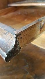 poitrine antique avec la première moitié rabat de 1700 Sec. -13