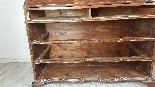 Antique chest of drawers with flap first half of 1700 18th c-4
