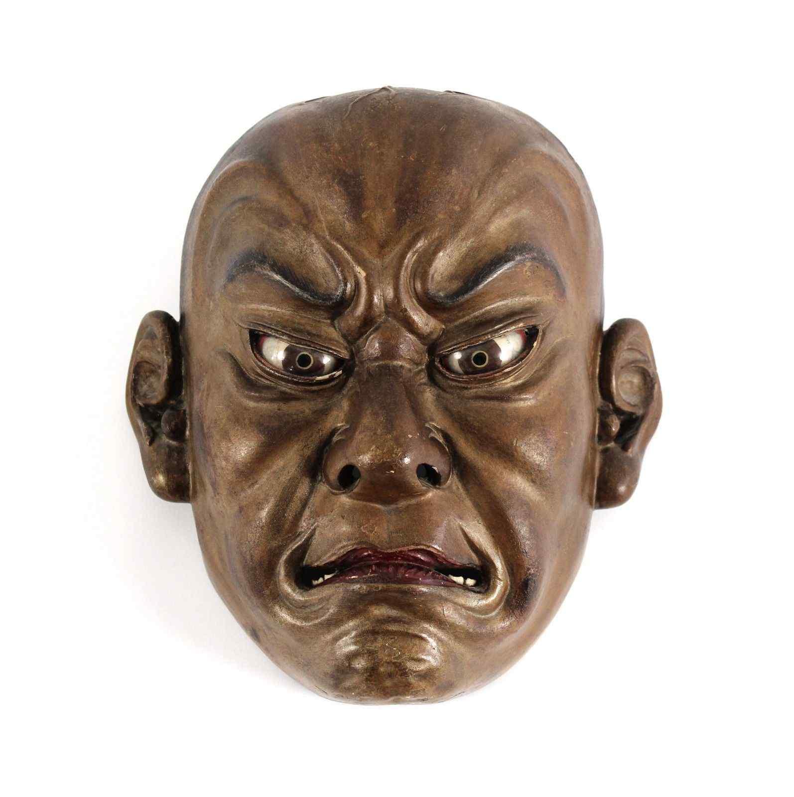 Japanese wooden mask , Ainu North Japan 19th Century.