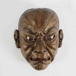 Japanese wooden mask , Ainu North Japan 19th Century.-1