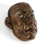 Japanese wooden mask , Ainu North Japan 19th Century.-2