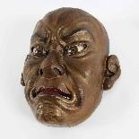 Japanese wooden mask , Ainu North Japan 19th Century.-4