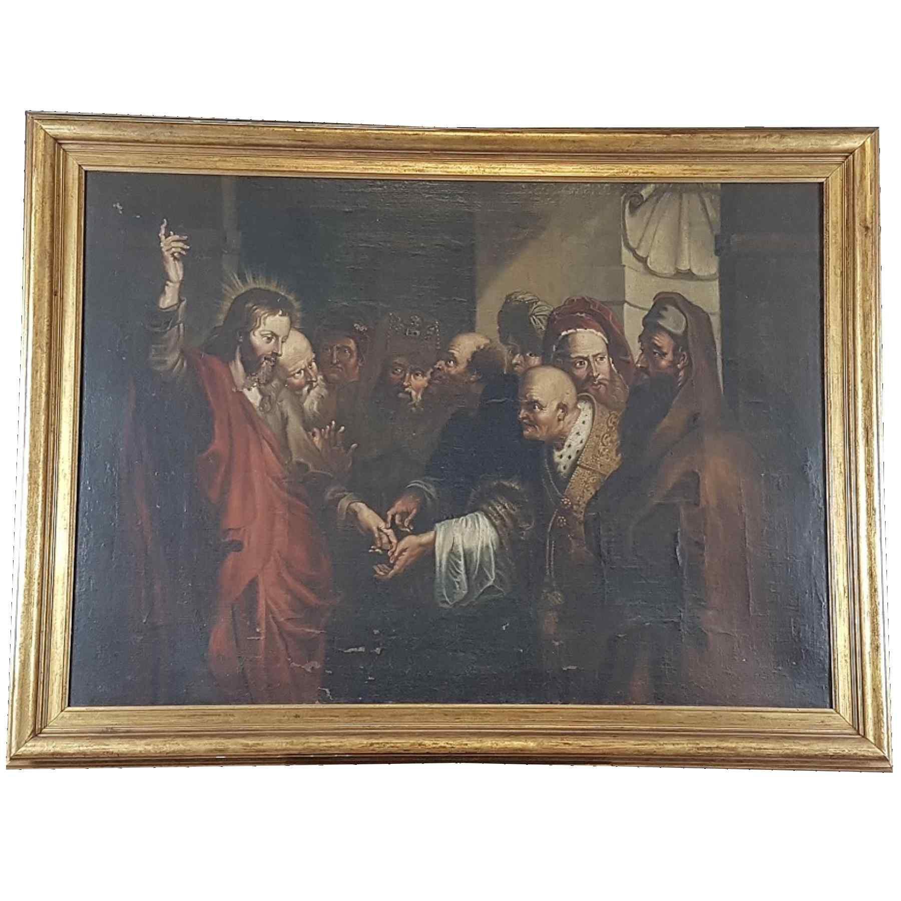 Quadro antico dipinto olio su tela Epoca Sec. XVII