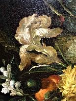 Jan Van Thielen 1618-1667 Composizione floreale su un Entabl-6