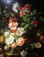 Jan Van Thielen 1618-1667 Composizione floreale su un Entabl-2