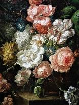Jan Van Thielen 1618-1667 Composizione floreale su un Entabl-7
