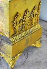 Imperatore sul suo carro, orologio in bronzo del XIX secolo-12