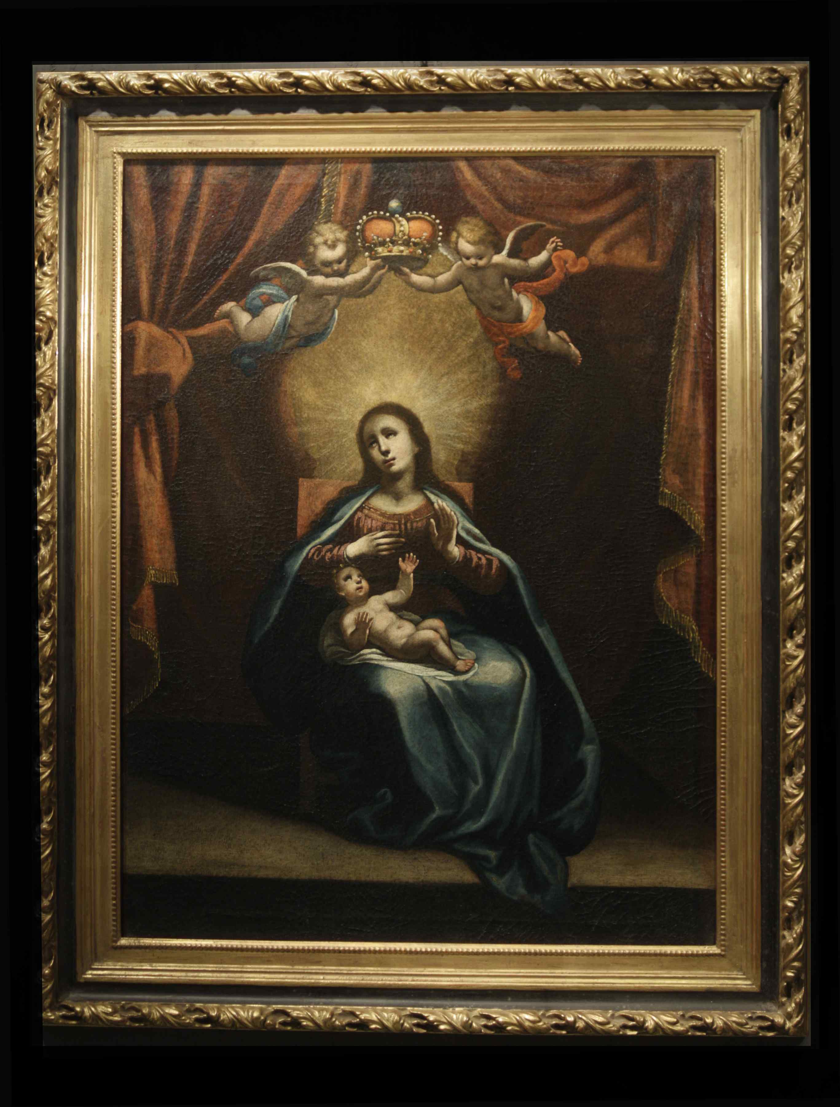 ASTOLFO PETRAZZI (SIENA 1580-1653) MADONNA  BAMBINO E ANGELI