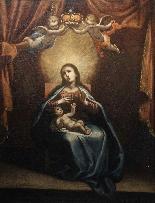 ASTOLFO PETRAZZI (SIENA 1580-1653) MADONNA  BAMBINO E ANGELI-4