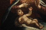 ASTOLFO PETRAZZI (SIENA 1580-1653) MADONNA  BAMBINO E ANGELI-1