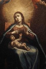 ASTOLFO PETRAZZI (SIENA 1580-1653) MADONNA  BAMBINO E ANGELI-2