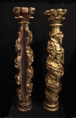 Pair of golden columns, Spain, 17th century-4
