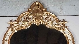 19th Century  Baroque Style Carved Lacquered Golden mirror-1
