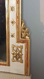 19th Century  Baroque Style Carved Lacquered Golden mirror-2