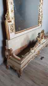 19th Century  Baroque Style Carved Lacquered Golden mirror-4